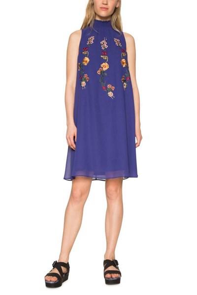 šaty Desigual Angy spectrum blue