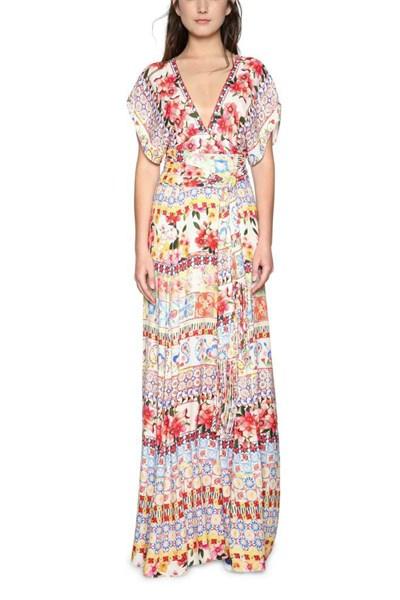 šaty Desigual Brigitte carmin