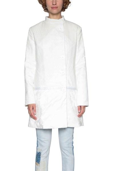 kabát Desigual Abrig Emilie blanco