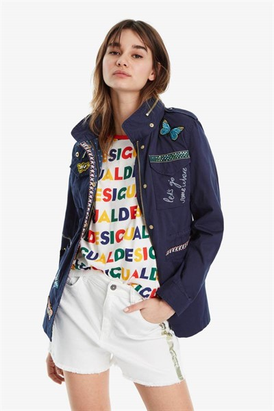 bunda Desigual Eclipse navy