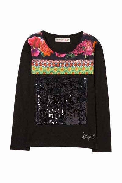 tričko Desigual Llafranc negro