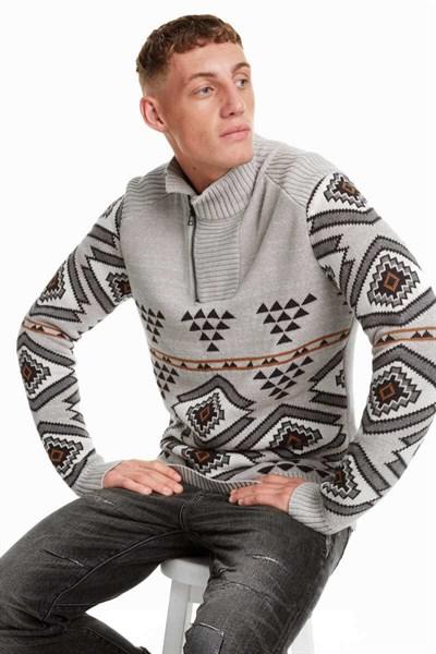 sveter Desigual Dallano gray morn