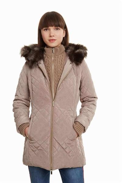kabát Desigual Maca beig fresh