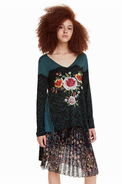 svetr Desigual Manhattan antique green