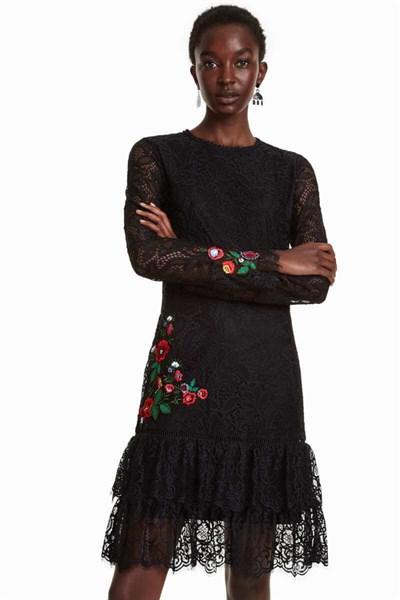 šaty Desigual Boreal negro