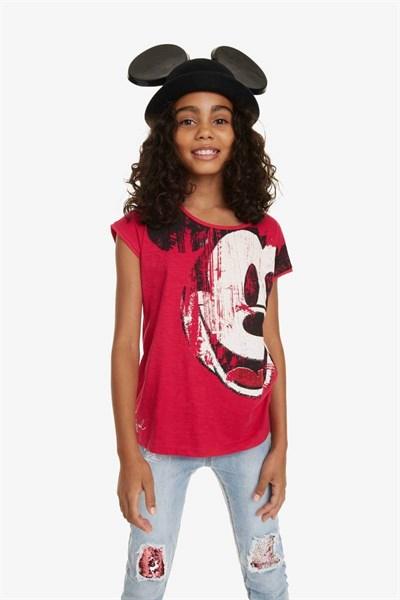tričko Desigual Earwig fuchsia rose
