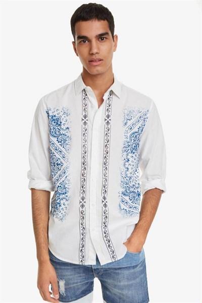 košeľa Desigual Cayden blanco