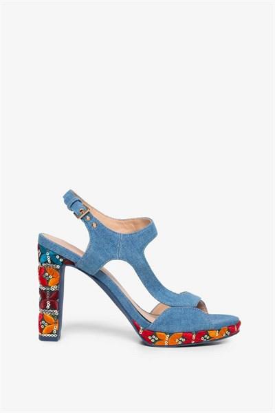 sandály Desigual Marylin Exotic azul tinta
