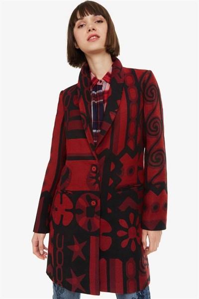 kabát Desigual Giulia borgona