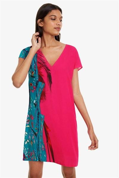 šaty Desigual Waling carmin