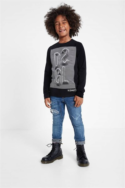 tričko Desigual Effect negro