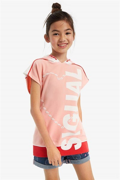 mikina Desigual Sporty rosa