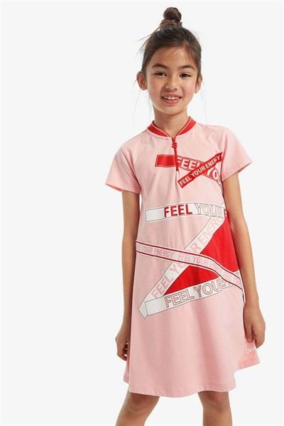 šaty Desigual Rib rosa