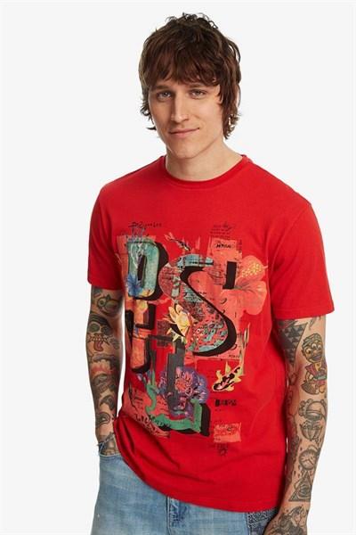 tričko Desigual Narciso rouge red