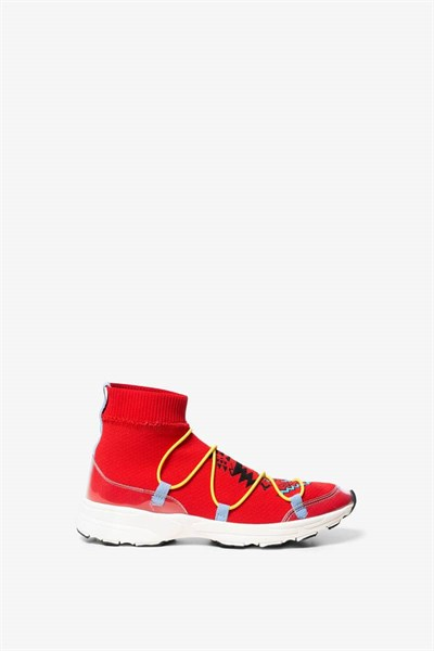 topánky Desigual Sock Navajo rojo roja