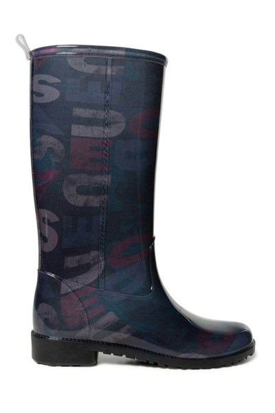 čižmy Desigual Mid Rain Boot Desi negro
