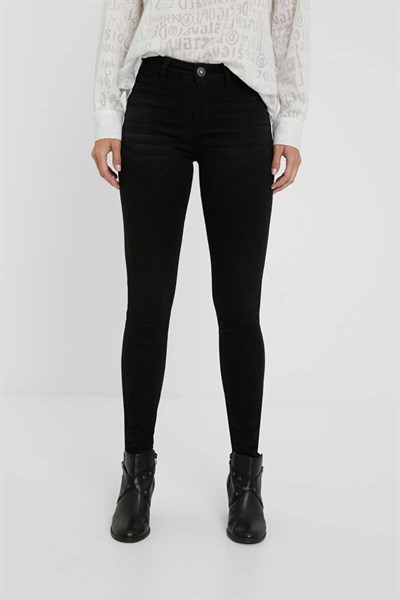 jeansy Desigual Basic 2 denim black wash