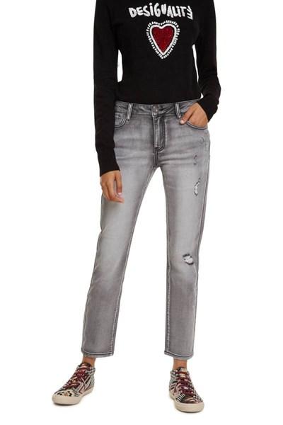 džínsy Desigual Barcelo denim light grey