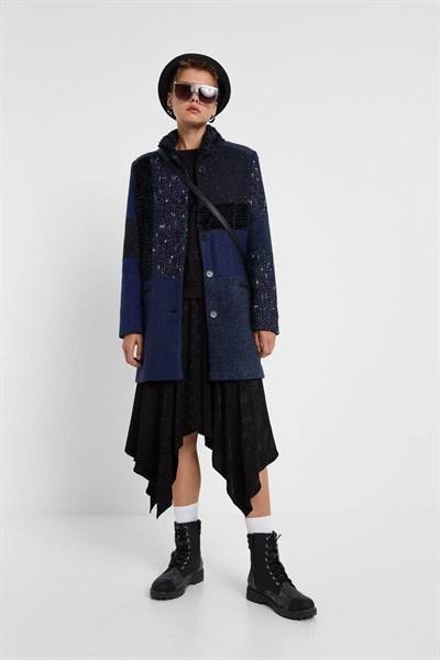 kabát Desigual Cartter azul media noche