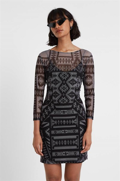 šaty Desigual Lua negro