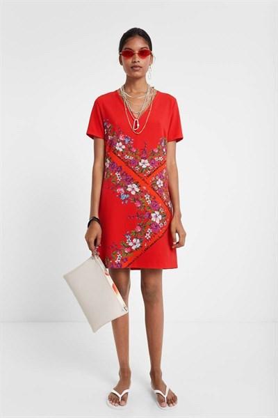 šaty Desigual Damis rojo clavel