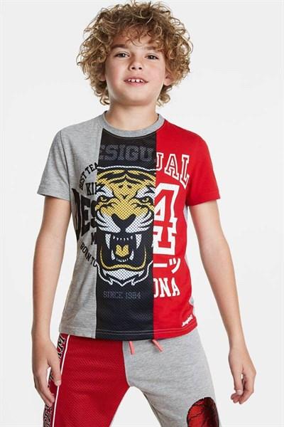 tričko Desigual Rafael gris vigore medio