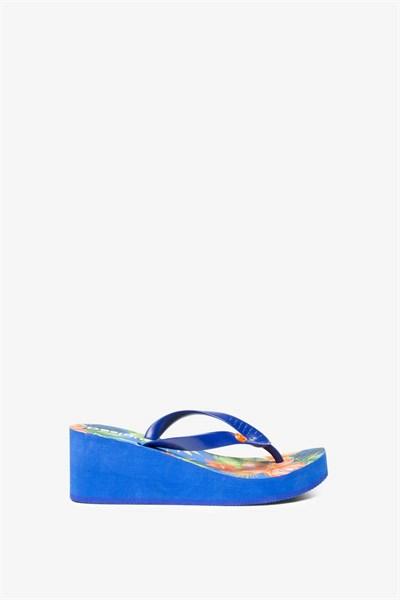 žabky Desigual Lola Tropica azul lovely