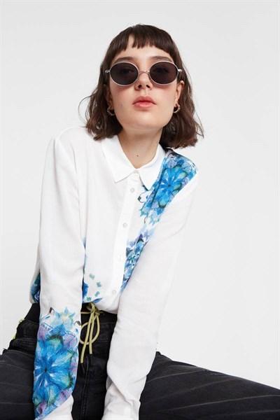 košile Desigual Vicenza blanco