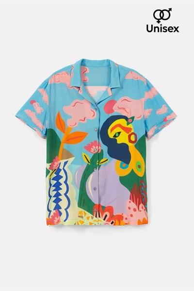 košile Desigual CAM MAKAR azul palo