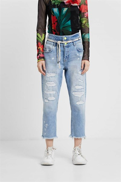 jeansy Desigual Twoway denim light wash