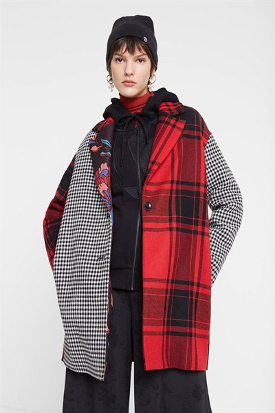 kabát Desigual Londres carmin