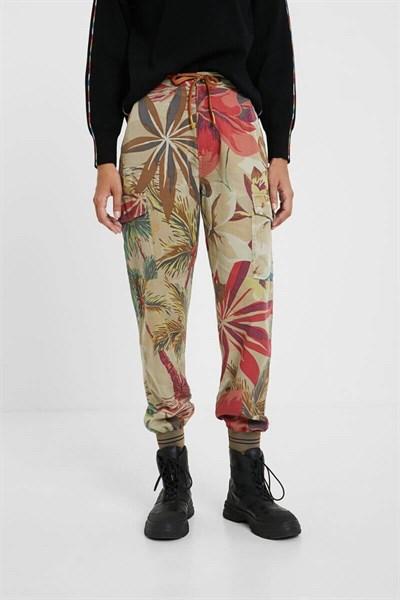 kalhoty Desigual Touche beige safari