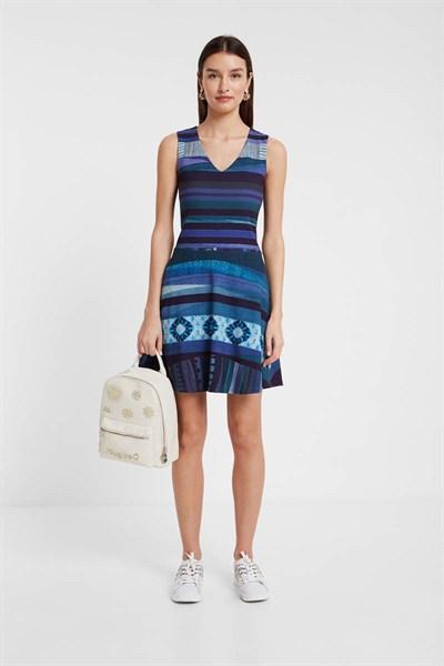šaty Desigual Duna azul tinta