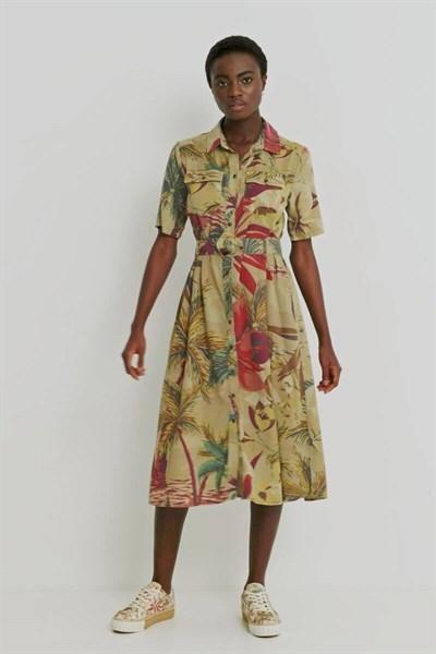 šaty Desigual Kate beige safari