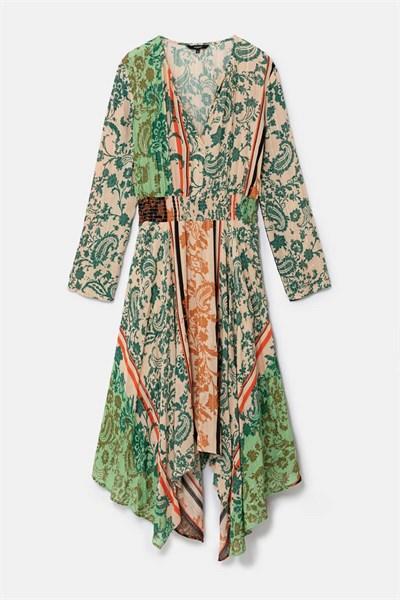 šaty Desigual Vestido viejo cactus