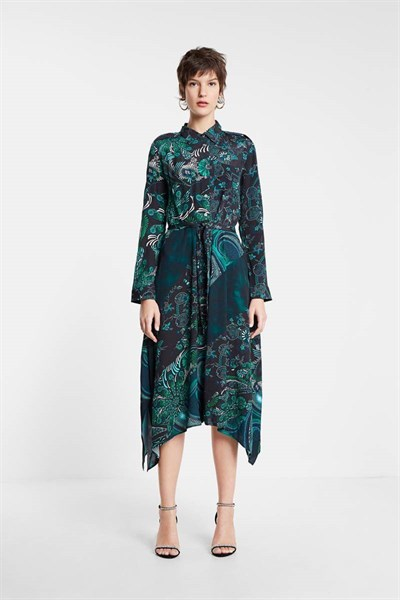 šaty Desigual Glen negro