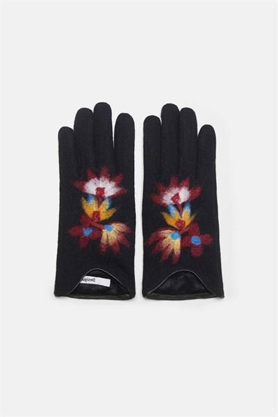 rukavice Desigual Lovely jet black
