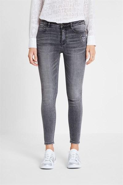 jeansy Desigual Alba denim dark grey