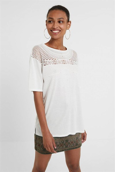 tričko Desigual Nantes blanco