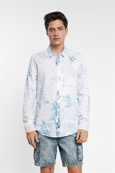košile Desigual Alberico blanco
