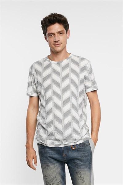 tričko Desigual Candido gris vigore claro