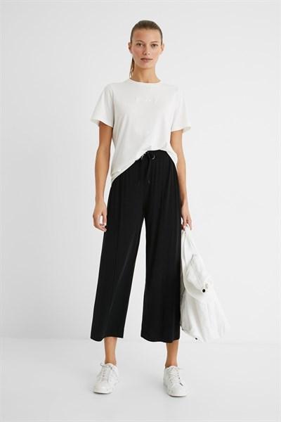 kalhoty Desigual Pant Black negro