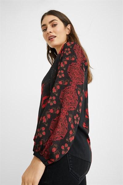 košile Desigual Reds negro