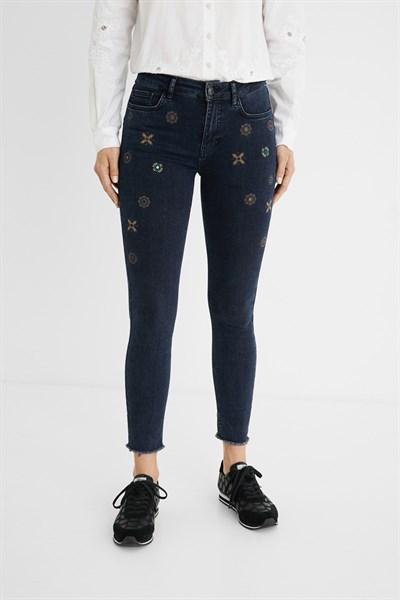 jeansy Desigual Julieta denim blue black