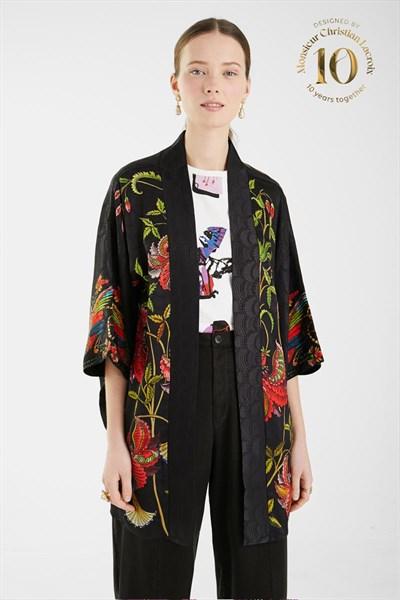 kimono Desigual Quo Vadis negro