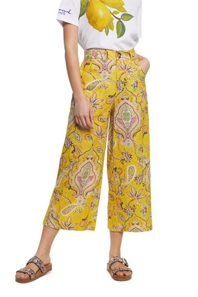 kalhoty Desigual Lucas amarillo canario