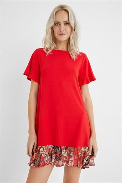 šaty Desigual Kali rojo clavel