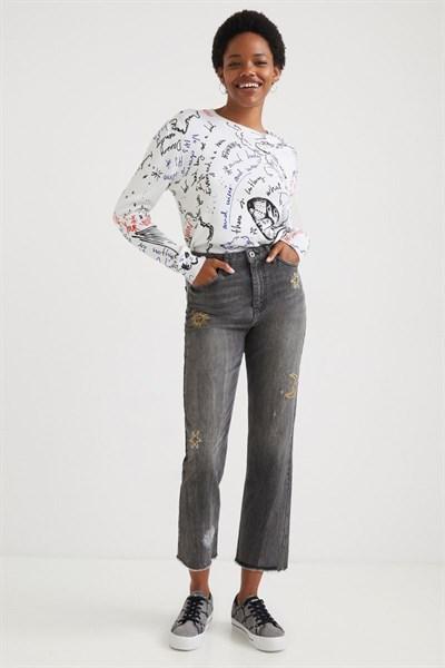 jeansy Desigual Lagun denim light grey