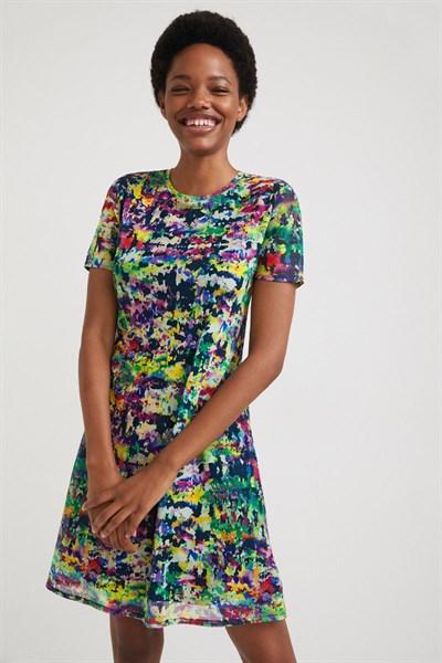 šaty Desigual Ann lima fluor