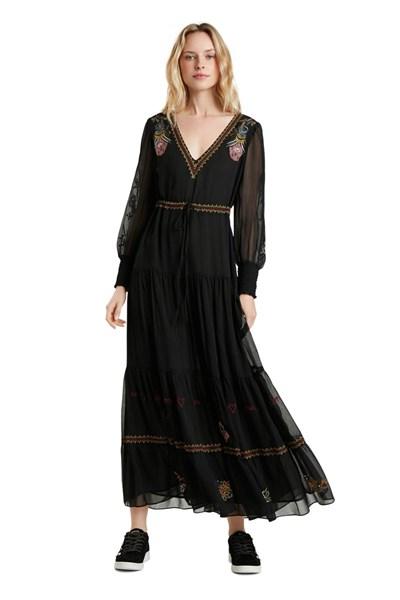 šaty Desigual Allium negro